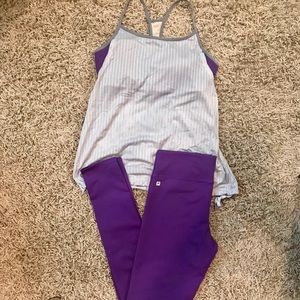 Like New Fabletics Outfit-Tights & Bra Tank